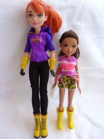 Good, Complete DC Super Hero Bat Girl & Young Girl Dolls Toy Bundle. Nice Gift.