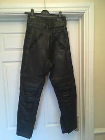 Biker leather trousers (heavy duty leather)