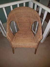Wicker chair from dunelm (adult size)