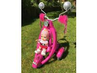 Toy Scooter Pushchair Jagget's (includes correct doll)