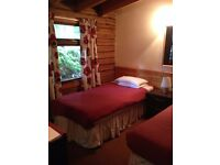 1 BEDROOM SEMI DETACHED LOG CABIN FOR LONGER TERM RENT IN BLAIRGOWRIE