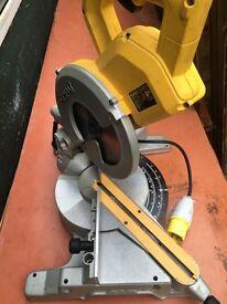 Dewalt DW777 216mm Sliding Crosscut Mitre Saw - 110v