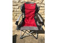 Quest Elite Red Commander camping chair - stronger and larger than most - never used