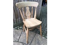 Eight Beech kitchen chairs