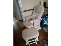 Nursing chair with footsool
