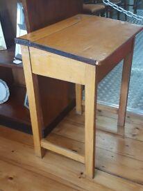 A school desk in good condition.