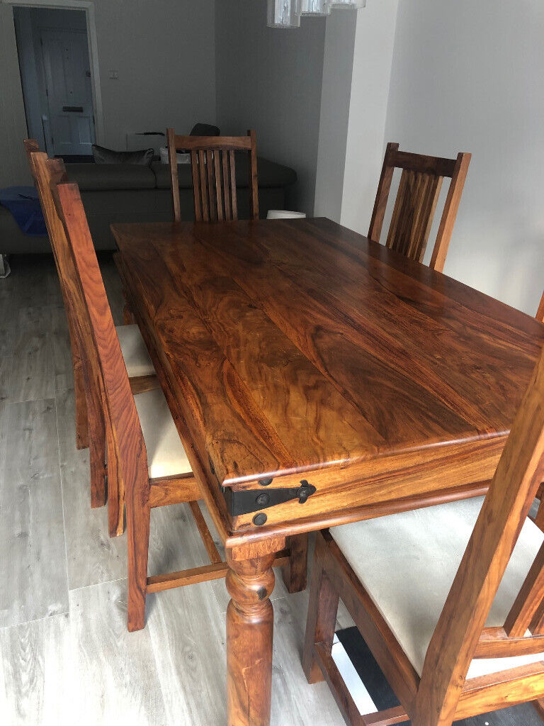 Stupendous John Lewis Range Six Seater Dining Room Table With Chairs To Match In Sevenoaks Kent Gumtree Home Interior And Landscaping Ologienasavecom