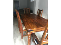 6db12bb26059 John Lewis Range six seater dining room table with chairs to match