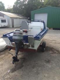 18ft Cabin Boat, 40hp engine and trailer