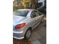 Peugeot 206 Sports coupe silver 2004. Lovely car with new clutch. Great price for a quick sale!