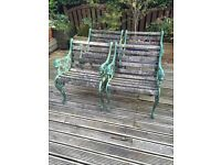 4 lions head cast iron benches very heavy awesome quality