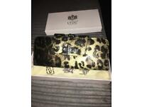 New leopard print purse/ clutch with box