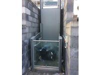 Outside wheelchair access lift