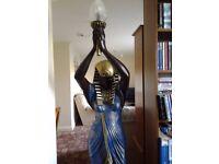 A lamp figurine