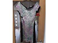 Lashes (Asos) Sequin/Black Dress Size 12/14