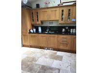 Howdens solid oak shaker style kitchen