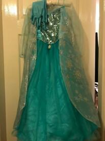 Disney's Frozen Elsa Princess Dress 7-8 with shoes