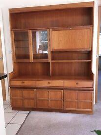 Display Cabinet / Sideboard in solid teak, 1960s Retro