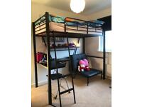 High Bunk bed with Desk and Chair