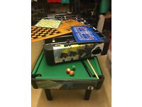 Kids multi games pool and table football set - free standing