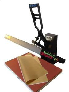 "New! 16 X 24"" Heat Press (Flat) with Teflon-coated heat element"