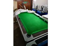 6ft pool table (coin operated) only 1 left now
