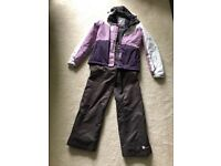 Older girls / Ladies Edge skiing jacket and trousers (size 8)