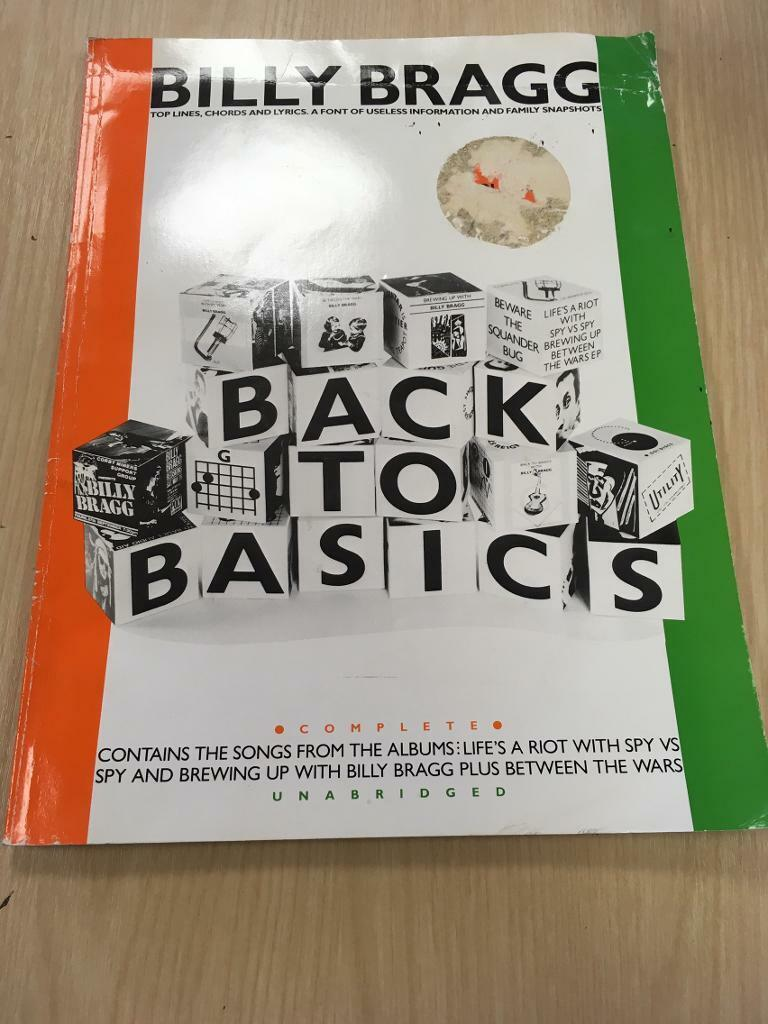 FOR SALE rare 1985 billy bragg back to basics chord book with LP