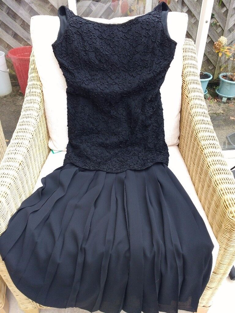 Principles size 12 black evening dress.