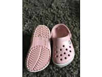 Pink crocs size 4 c 5
