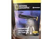 telescope national geographic assembled and used once all boxed as new ideal present