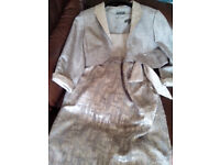 Silver/Grey Dress and Jacket size 14 by Pifer & Mayka (Spain)