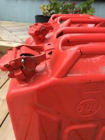 20 litre fuel tanks x2