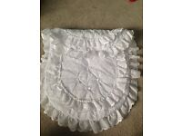 Beautiful white pram cover with pillow case