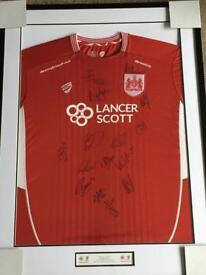Signed Bristol City FC Shirt