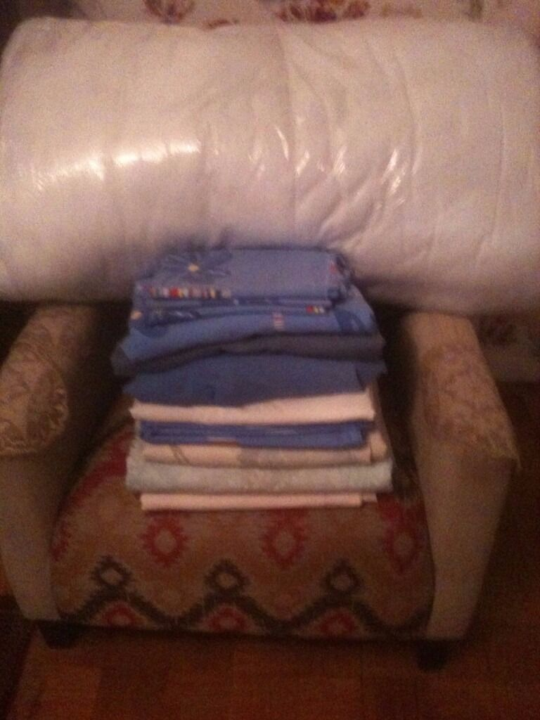12 piece bed sheets, covers, pillow cases and double duvet (offers accepted)