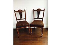 2 Antique Mahogany Chairs
