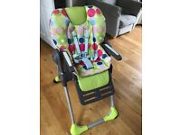 Chico highchair adjustable very good condition