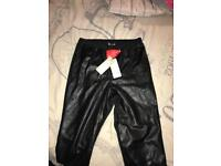 Lipsy leather front trousers new tags