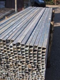GALVANISED BOX SECTION 40X40 2.4 METRES LONG 3MM THICK. IDEAL FOR RECOVERY BODIES / BODY OR OTHER
