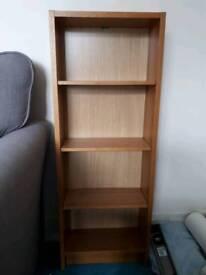 Two DVD/ bookcases in oak effect