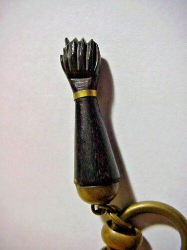 Vintage Carved Wood BLACK POWER PROTEST FIST on KEY RING