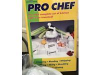Pro chef set food processor set slicing