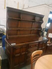 Large ercol dresser unit with drawers
