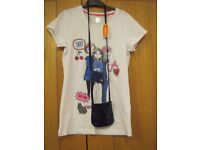 Girls Age 13-14 Blue Zoo Denim Girls T Shirt (new with tags)