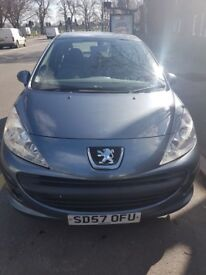 Peugeot 207.Nice car.Cheap road tax and insurance.1.4. 2007.Mot until september2018