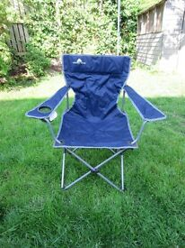 Blue Folding Camping/Picnic/Garden Chair Easily Folds Away in Storage Bag £10