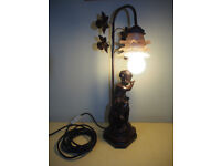 Art Deco style Bronze effect Table Lamp