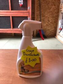 Rabbit cage cleaner disinfectant