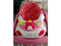 Red Kite Pink Flowers and Strawberrys Baby Walker